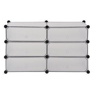 Rebrilliant Modular Cube Storage 12 Pair Stackable Shoe Rack