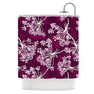 Squiggly Floral Single Shower Curtain