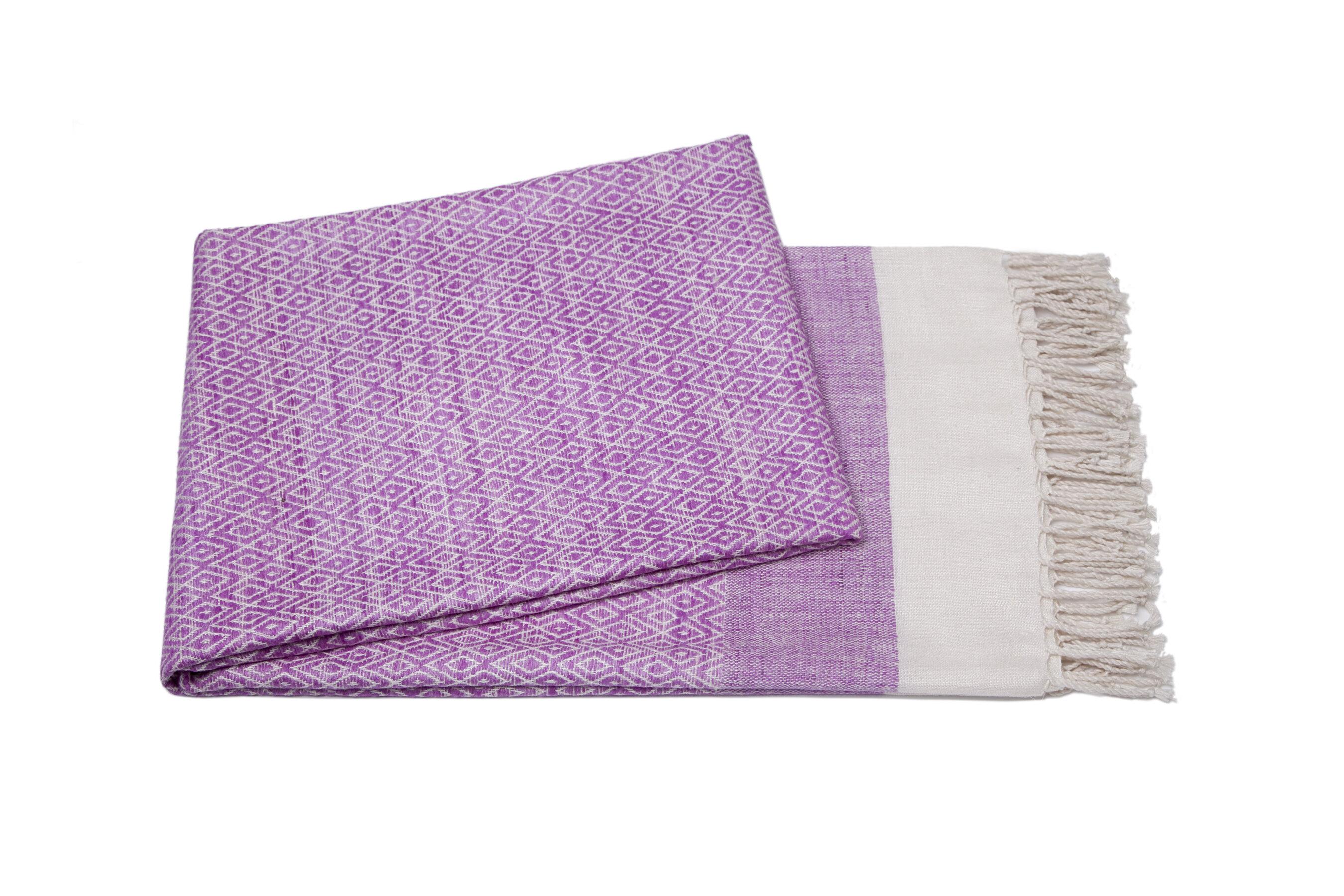 Cashmere Collection Handmade Silk Throw Wayfair