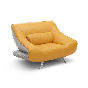 Orren Ellis Boyertown Leather Armchair