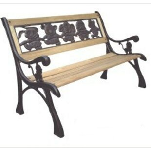 DC America Friendship Kids Wood and Cast Iron Park Bench