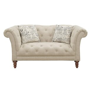 Canora Grey Tab Chesterfield Loveseat