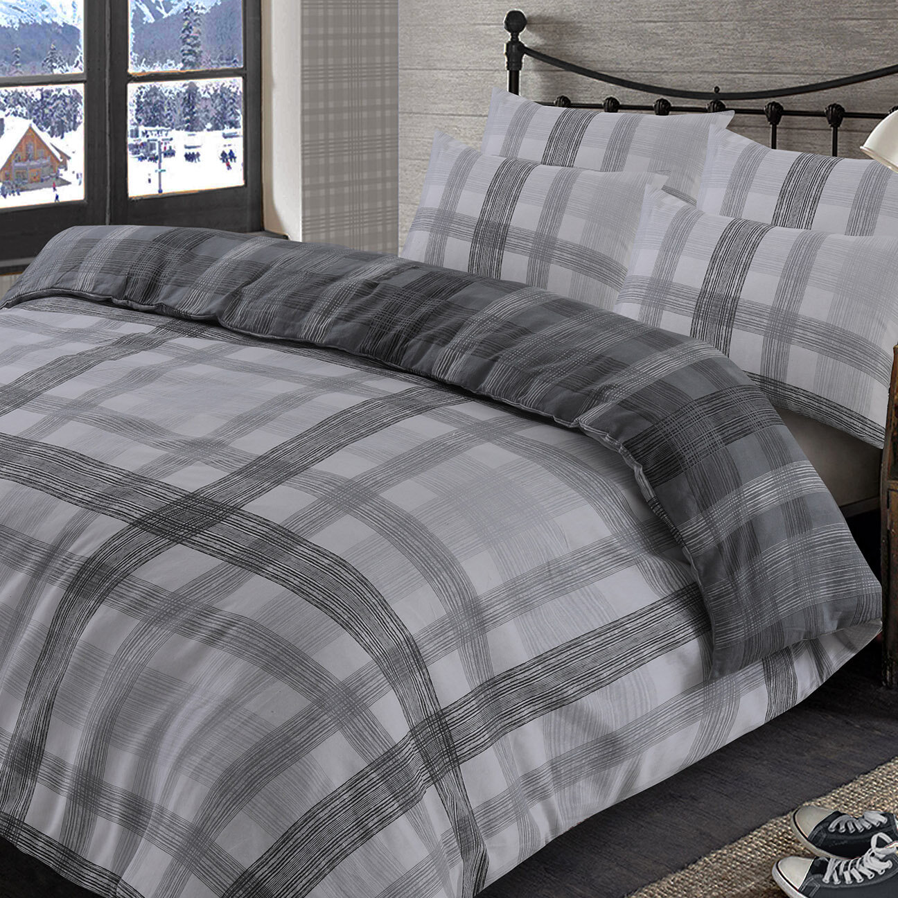 87ae6f996224 17 Stories Dwyer Brushed Cotton Duvet Cover Set & Reviews   Wayfair.co.uk