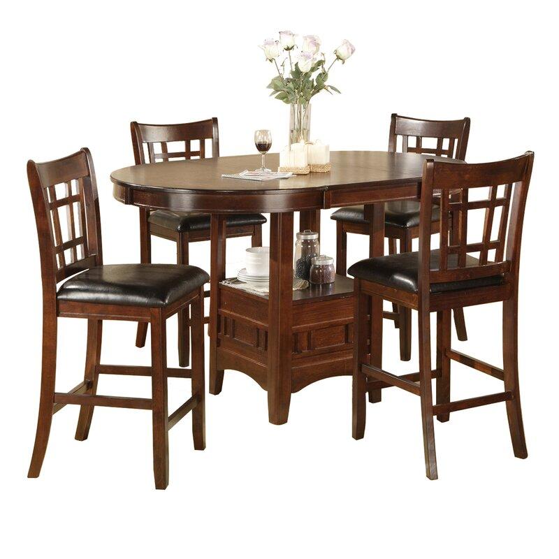 White Cane Outdoor Furniture, Hazelwood Home Degraffenreid 5 Piece Counter Height Dining Set Reviews Wayfair