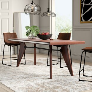 Mulkey Solid Wood Dining Table Mercury Row