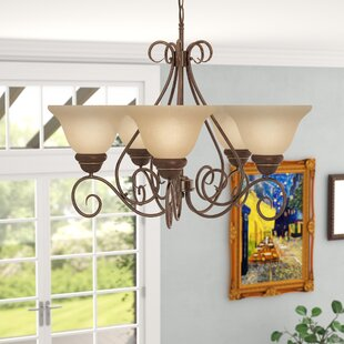 Claycomb 5-Light Shaded Chandelier by Fleur De Lis Living