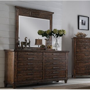Union Rustic Rodriguez 6 Drawer Double Dresser with Mirror