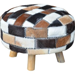 Jeffan Patches Leather Ottoman