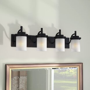 Three Posts Dashiell 4-Light Glass Shade Vanity Light