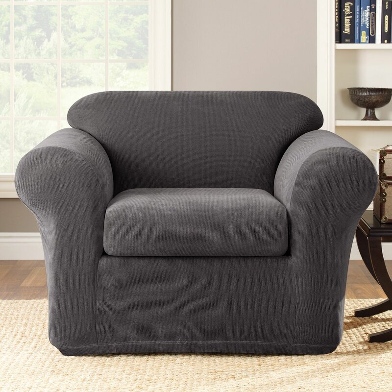 Stretch Metro Box Cushion Armchair Slipcover