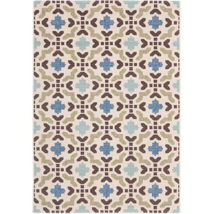 Serrano Cream/Aqua Indoor/Outdoor Area Rug