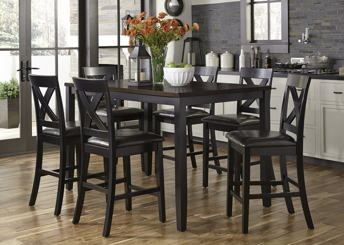 Amazing Nadine 7 Piece Breakfast Nook Dining Set