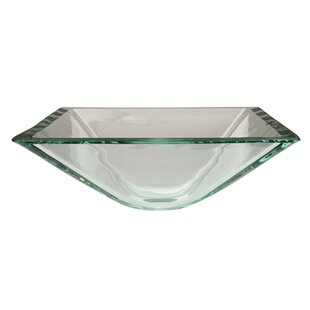 Read Reviews Fauceture Glass Square Vessel Bathroom Sink ByKingston Brass