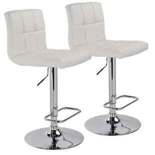Adjustable Height Swivel Bar Stool (Set of 2) WorldWide HomeFurnishings