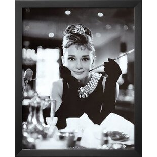 'Audrey Hepburn Breakfast at Tiffany's Movie Poster' Framed Photographic Print by Latitude Run