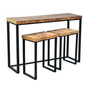 Hoekstra Console Table and Stool Set  sc 1 st  Wayfair & Console Table With Stools | Wayfair