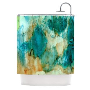 Read Reviews Waterfall by Rosie Brown Shower Curtain By East Urban Home