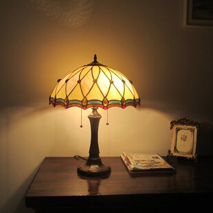 Miguel Tiffany 2 Light Victorian 22 Table Lamp
