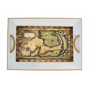 Cape Cod Map Bamboo Serving Tray