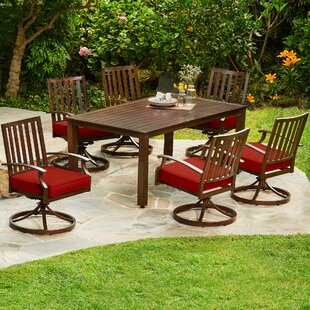 Darby Home Co Yandel Bridgeport Motion 7 Piece Dining Set with Cushions