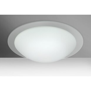 Online Reviews Ring 3-Light Outdoor Flush Mount By Besa Lighting