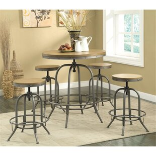 Little Italy 5 Piece Pub Table Set 17 Stories