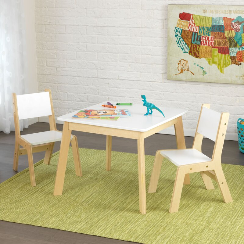 Kidkraft Modern Kids 3 Piece Writing Table And Chair Set Reviews