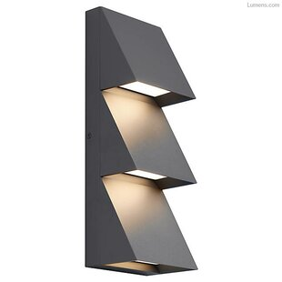 Brayden Studio Hinesville Triple Outdoor Sconce
