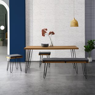 Valladares Dining Set With 2 Chairs And One Bench By Ebern Designs