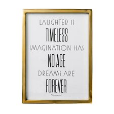 """""""Laughter is …"""" Framed Textual Art"""