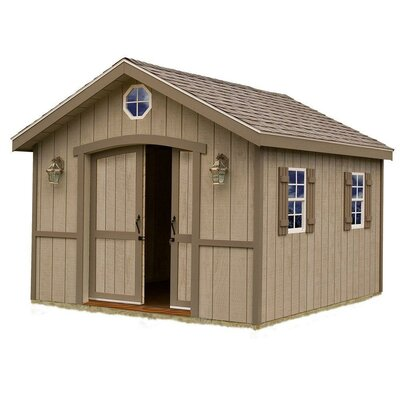 Cambridge 10 ft. W x 12 ft. D Solid Wood Storage Shed Best Barns Size: 110 H x 120 W x 192 D