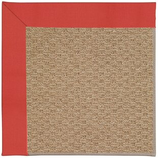 Lisle Machine Tufted Sunset Red/Brown Indoor/Outdoor Area Rug