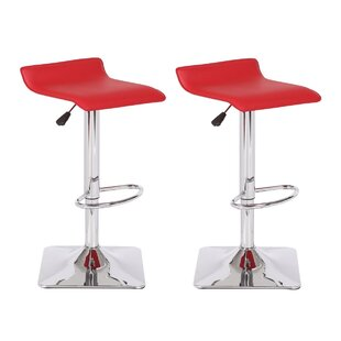 Jeanie Adjustable Height Swivel Bar Stool..