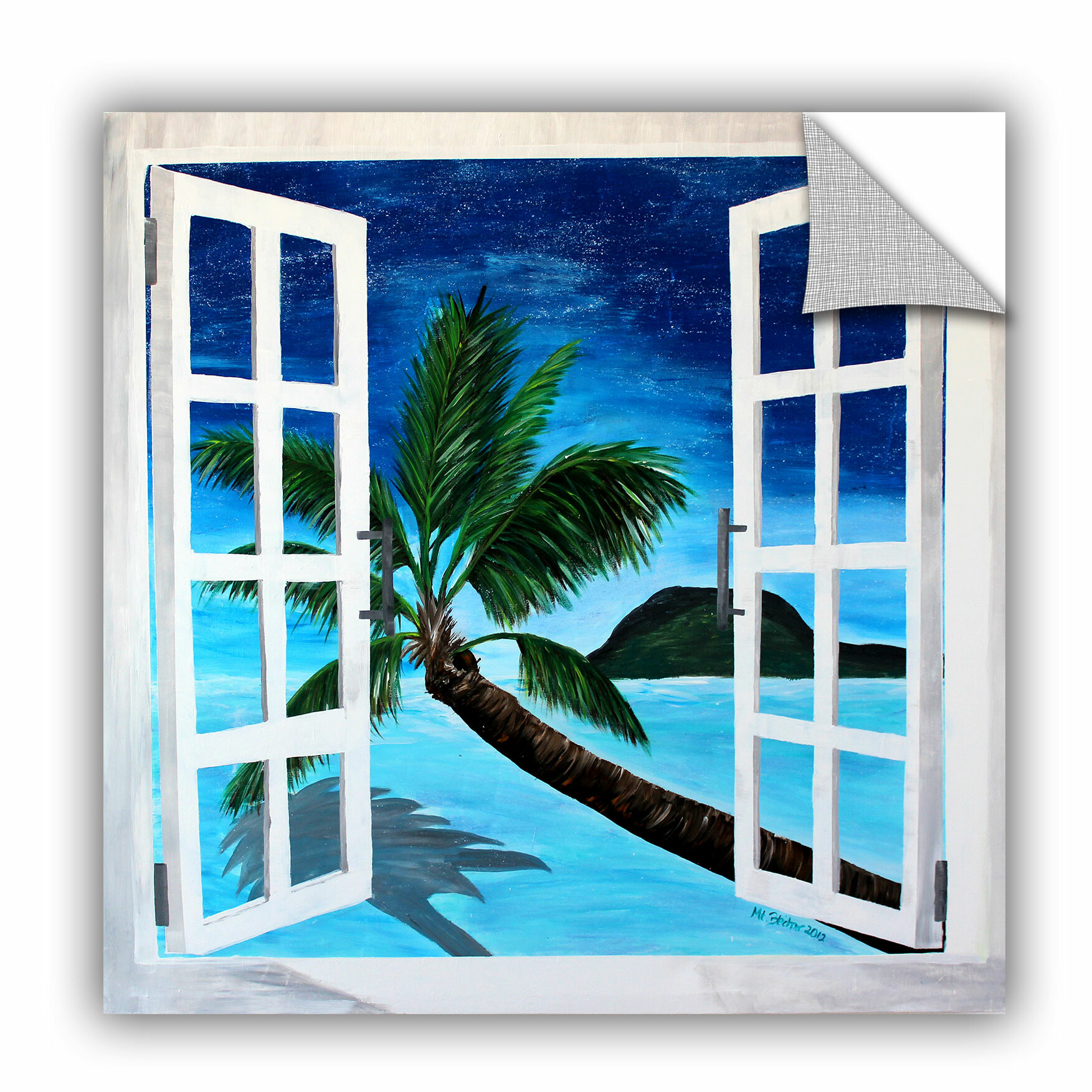 Artwall Artapeelz Palm View Window By Marcus Martina Bleichner Painting Print On Canvas Wayfair