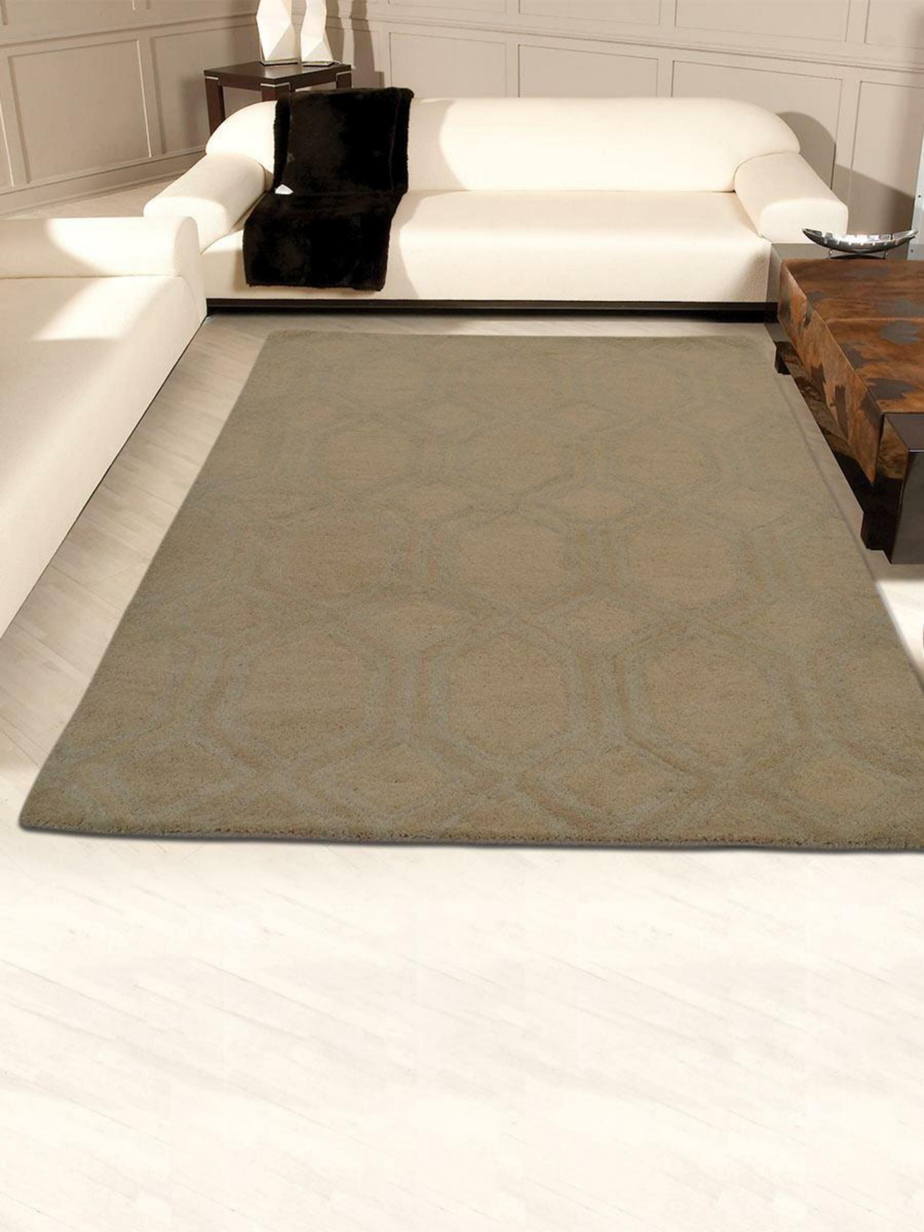 Bay Isle Home Mcarthur Geometric Handmade Tufted Wool Beige Area Rug Wayfair