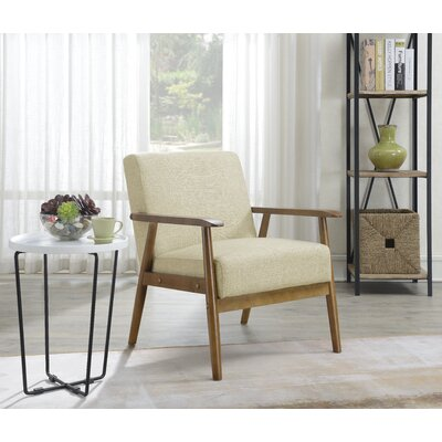 Terrific Highway Barlow Armchair Upholstery Color Beige Theyellowbook Wood Chair Design Ideas Theyellowbookinfo