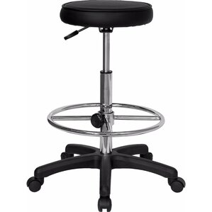 Backless Drafting Height Adjustable Stool With Duel Wheel