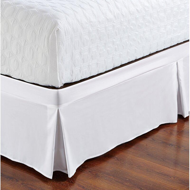 "Solid 620-TC Cotton Split Corner Gather Bed Skirt White n Many Color 16/""//20/""//22/"""