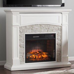 River Rock Electric Fireplace | Wayfair