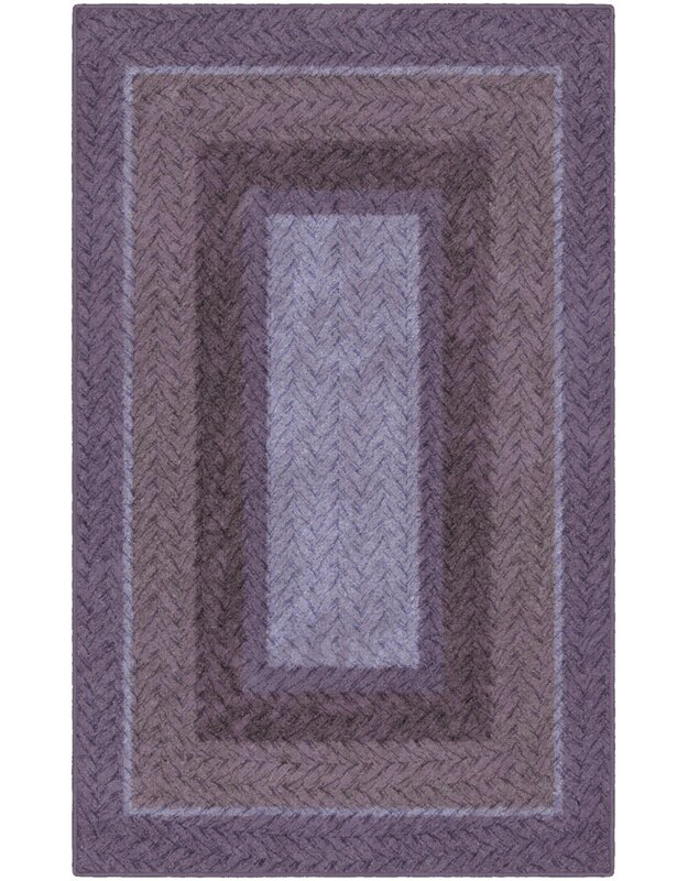 Winston Porter Zane Braided Printed Purple Area Rug, Size: Rectangle 76 x 10