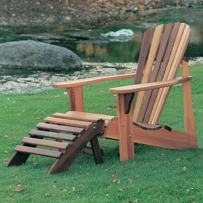 Gentil Tu0026L Solid Wood Adirondack Chair With Ottoman