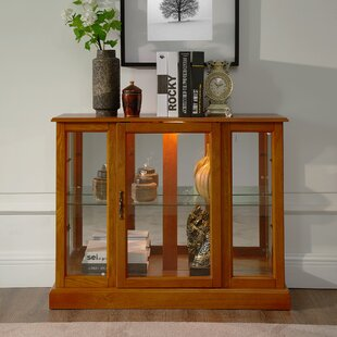 Canora Grey Franklyn Lighted Console Curio Cabinet