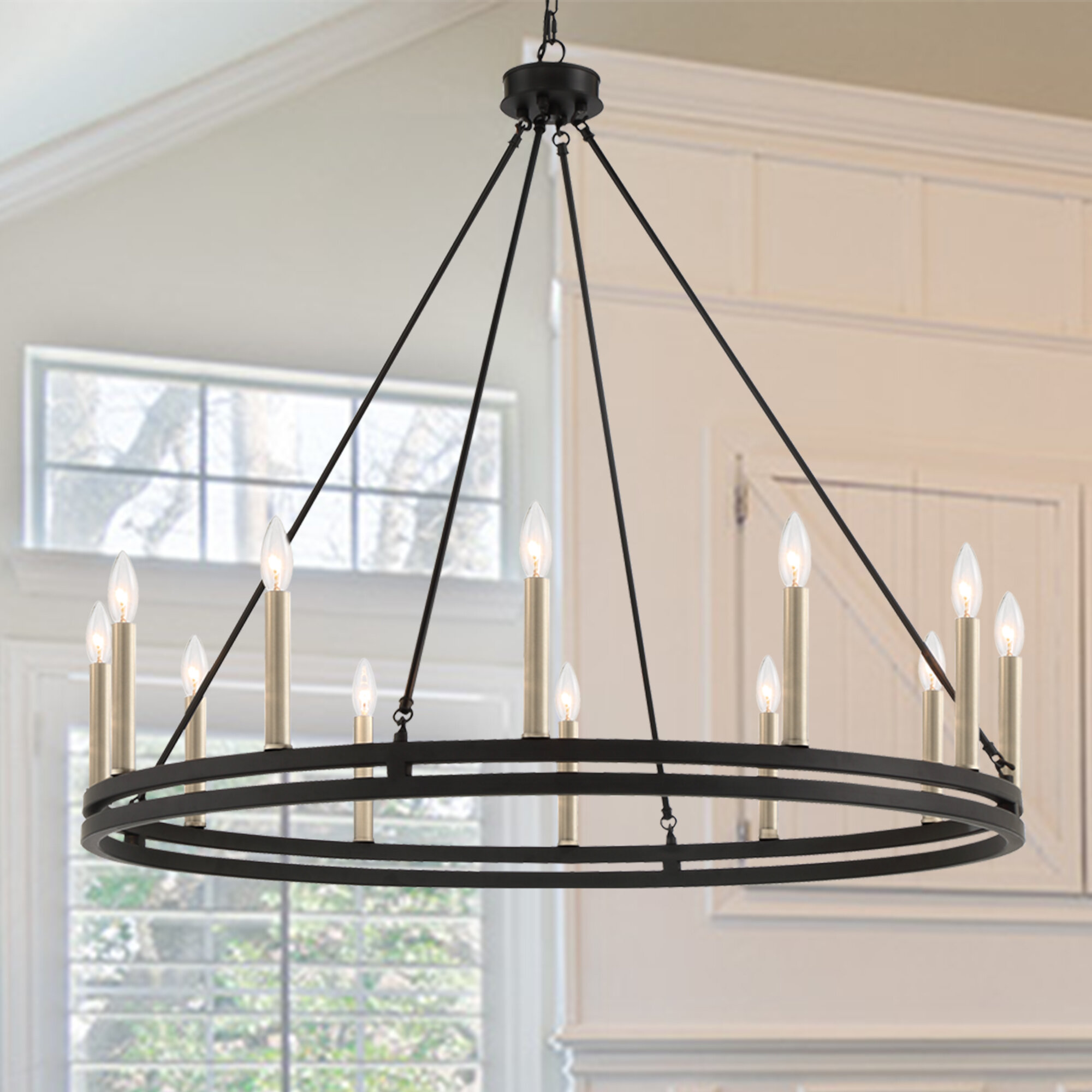 Black Finish Oversized Greater Than 35 Wide Chandeliers You Ll Love In 2021 Wayfair