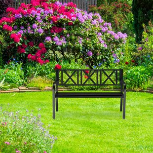 Ofelia Garden Bench Made Of Steel By Brambly Cottage