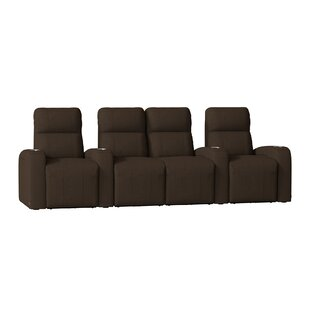 Latitude Run Home Theater Row Seating with Chaise Footrest (Row of 4)