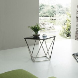 Greentop Glass Top End Table