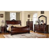 Yancey Queen Bed With 2 Night Stands, Dresser And Mirror Set by Astoria Grand