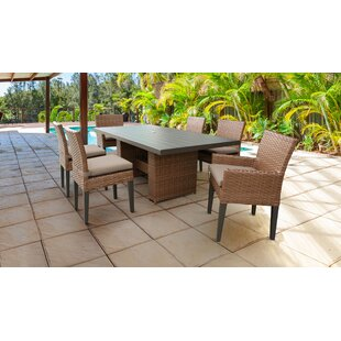 Medina 7 Piece Dining Set with Cushions by Rosecliff Heights
