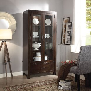 Darby Home Co Crissyfield Lighted Curio Cabinet