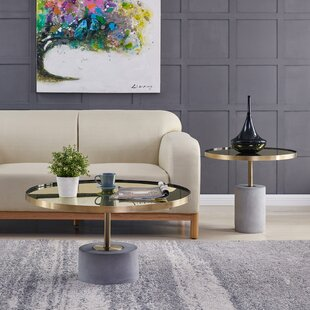 Mercer41 Havens 2 Piece Coffee Table Set